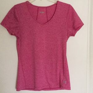 RBX short sleeve v-neck pink workout top - M